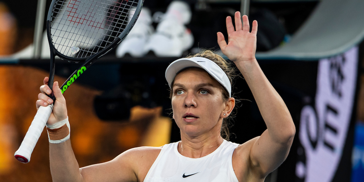 Simona Halep salutes crowd at Australian open 2020