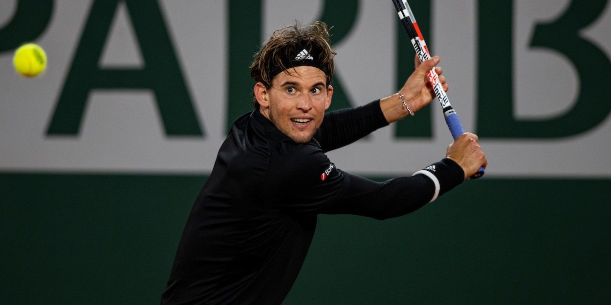 Thiem competing at the French Open