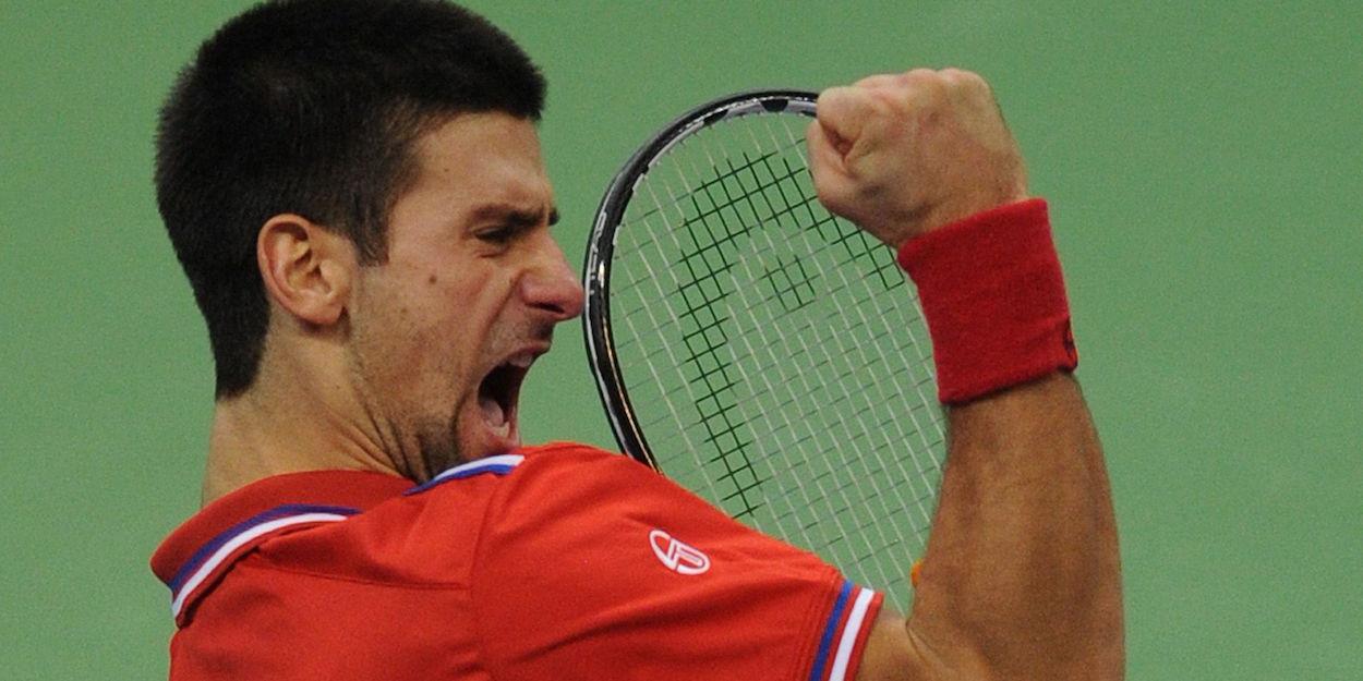 Djokovic beats Monfils Davis Cup 2010