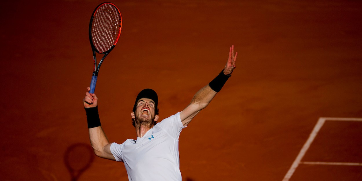 Murray competes at the French Open