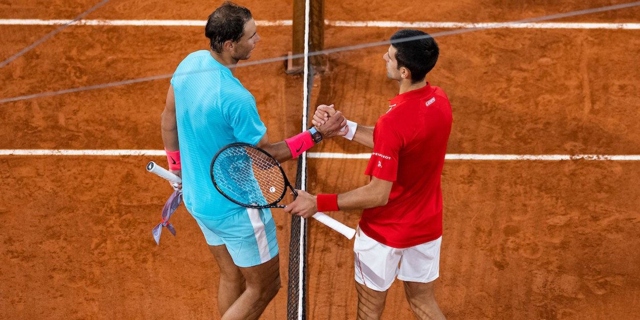 Nadal and Djokovic in the French Open Men's final 2020