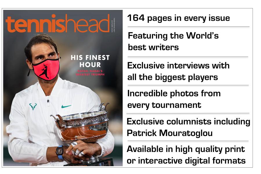 tennishead magazine benefits LATEST