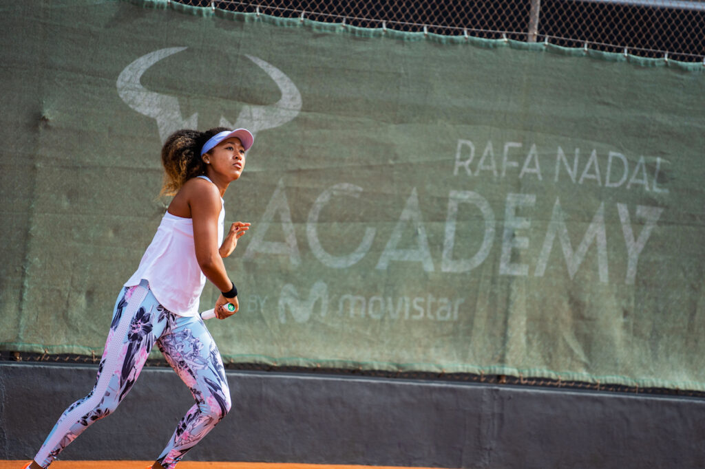 Naomi Osaka at the Rafa Nadal Academy