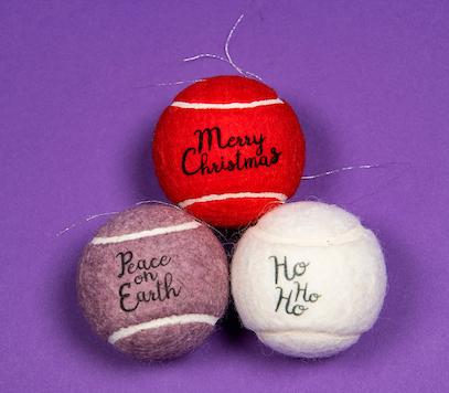 Price of Bath Christmas tennis ball baubles