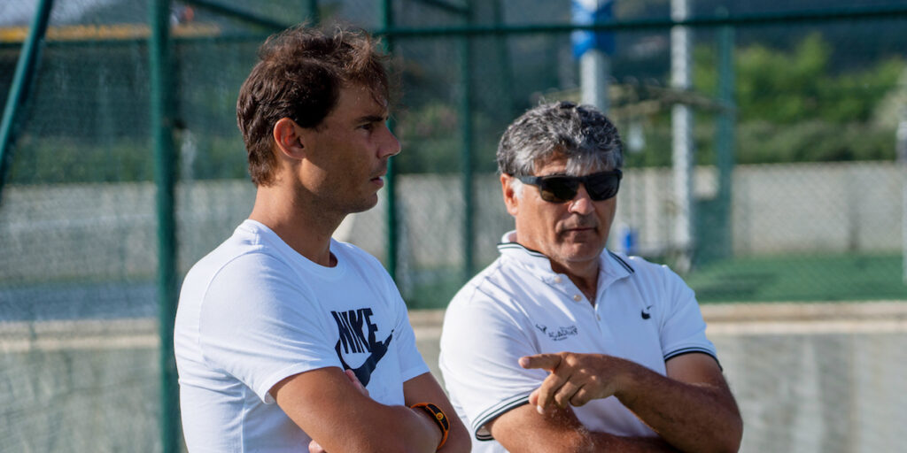 Rafa Nadal and Toni at his Academy